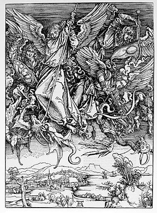 Durer_St.MichaelFighting